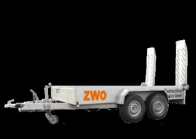 Alu-Baumaschinentransporter mit Klapprampen, Tieflader